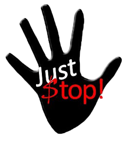 Just stop hand logo
